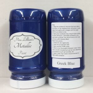 Miss Lillian's Metallic Paint Greek Blue
