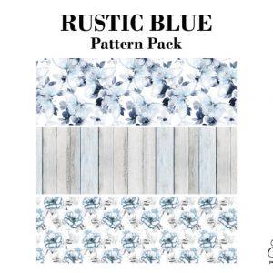 """Grace on Design Decoupage Papier """"Rustic Blue Pattern"""""""