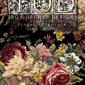 "IOD Decor Transfer ""Floral Anthology"" 12 x 16 inch Block"