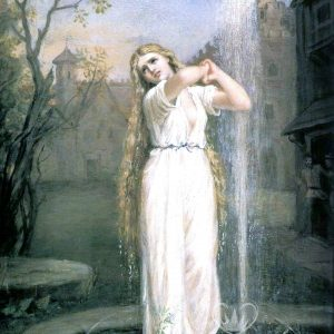 Posh Chalk Decoupage Fountain Girl
