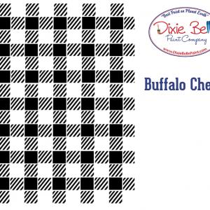 Belles and Whistles Schablone – nicht klebend – wiederverwendbar –  Buffalo Check 40x50cm