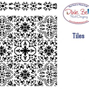 Belles and Whistles Schablone – nicht klebend – wiederverwendbar –  Tiles 40x50cm