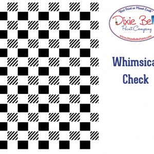 Belles and Whistles Schablone – nicht klebend – wiederverwendbar –  Whimsical Check 40x50cm